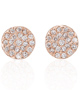 Small Diamond Disc Rose Gold Studs