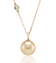 Golden South Sea Pearl & Diamond Chain