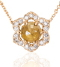 Yellow Diamond Rosette Necklace