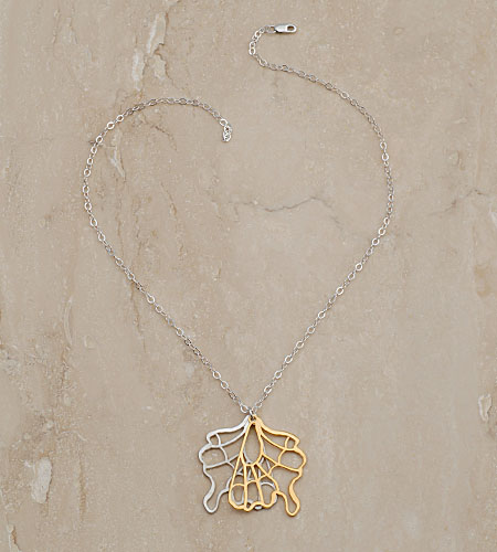 eco friendly Butterfly Pendant Necklace, Reclaimed Sterling Silver, Gold Vermeil