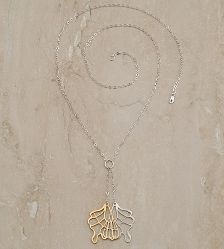 Julia Failey Eco Friendly Jewelry - Butterfly Necklace, Reclaimed Sterling Silver and 24kt Vermeil