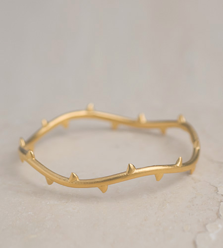 eco friendly Vine Bangle in Gold, Reclaimed Sterling Silver  Gold Vermeil