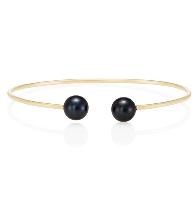 Black Akoya Pearl Cuff Bracelet