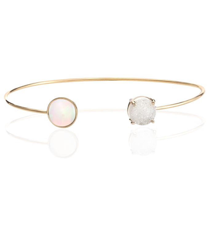 Opal Drusy Cuff Bracelet