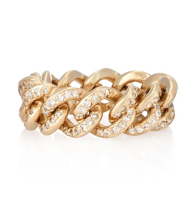 Diamond Pave Link Ring