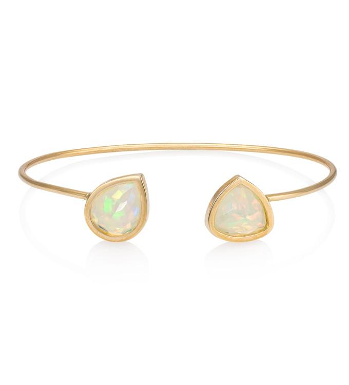 Faceted Opal Cuff Bracelet