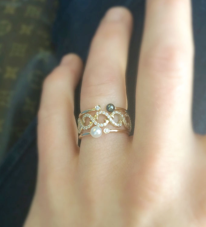 Diamond Infinity Vine Ring