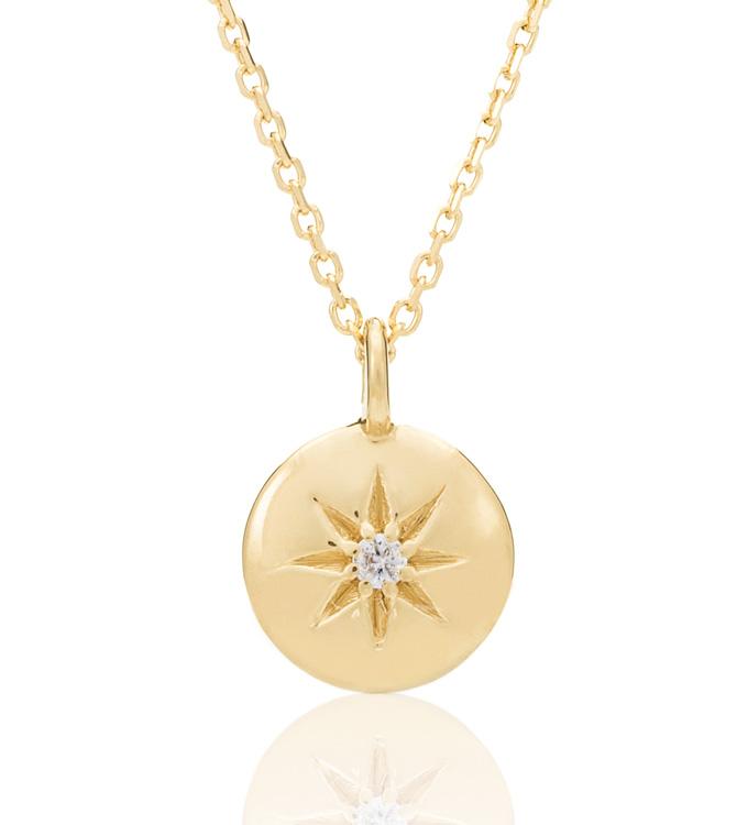 Gold Diamond Star Necklace