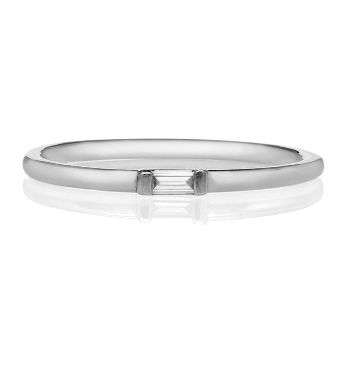 Baguette Diamond White Gold Ring