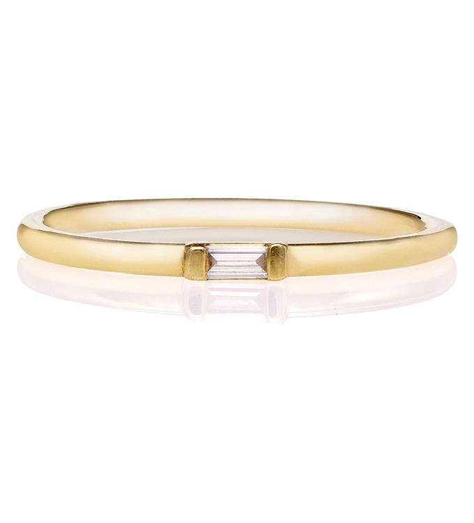 Baguette Diamond Gold Ring