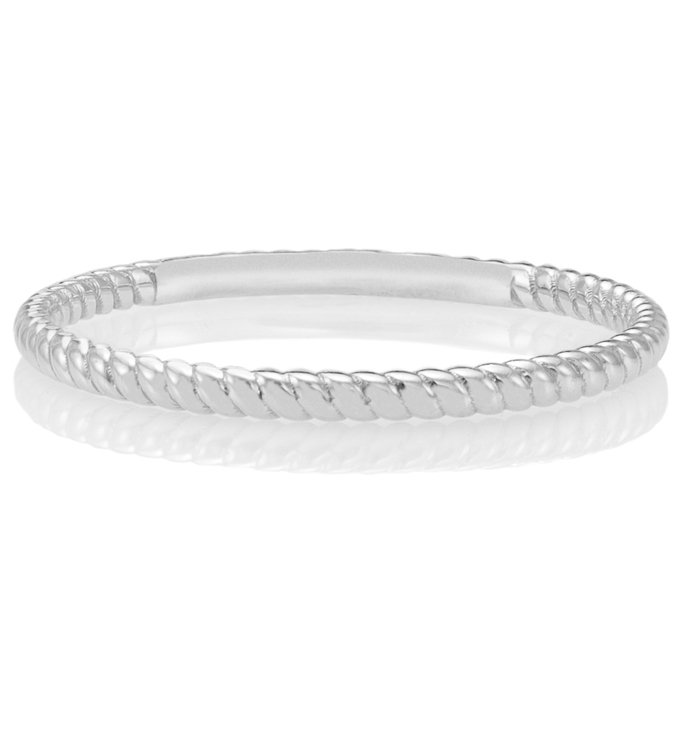 Twisted White Gold Ring