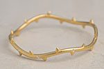 Julia Failey Eco Friendly Sapphire Vine Bangle in Gold, Editor Pick! jewlery